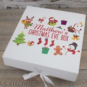 """Personalised White Christmas Eve Box"""