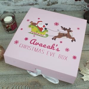 """Personalised Pink/Blue Christmas Eve Box"""