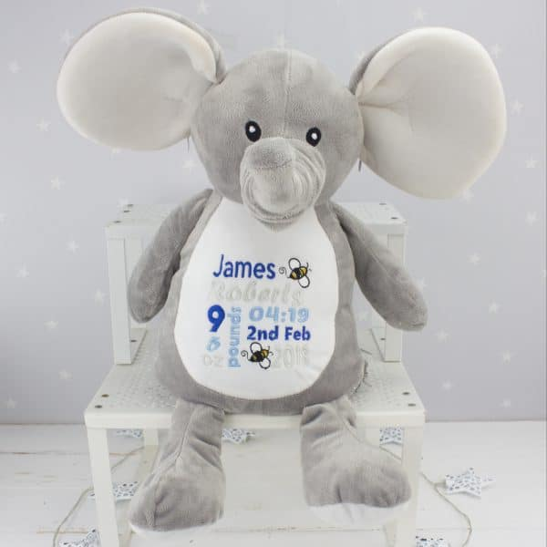 Personalised Elephant Soft Toy