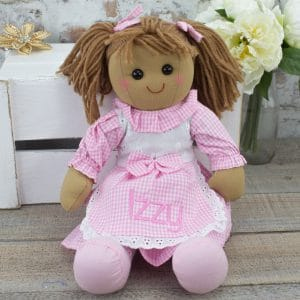 personalised rag doll - baby girl gift