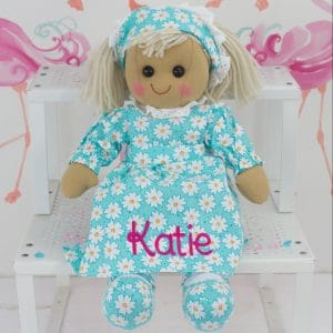 'Personalised 'Flower Girl' Rag Doll'