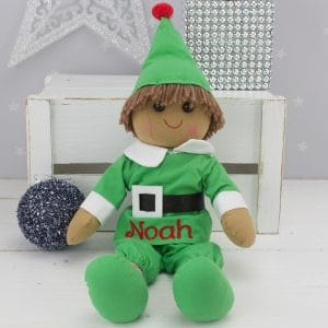 """Personalised Christmas Elf Rag Doll"""
