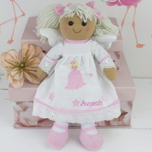 """Personalised Angel Rag Doll"""