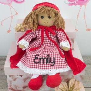'Personalised Red Riding Hood Rag Doll'