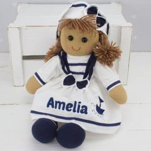 'Personalised Rag Doll - Sailor Girl'