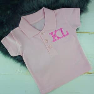Personalised Pink Baby Polo Shirt
