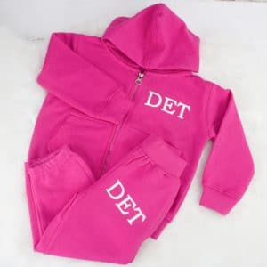 'Personalised Pink Baby & Toddler Zip Tracksuit'