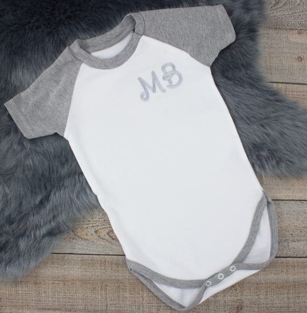 intial baby clothes