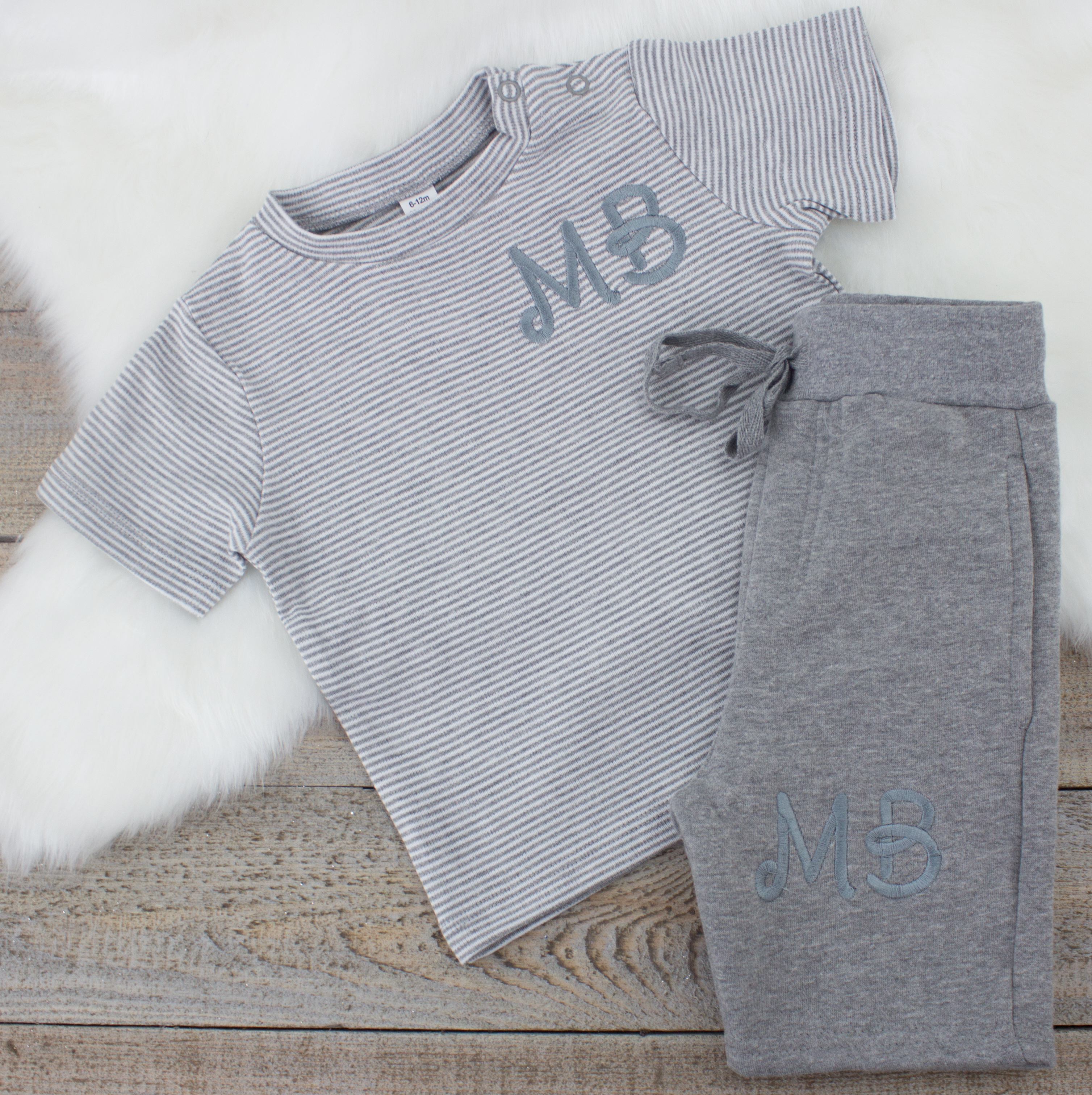Product Description. monogrammed baby loungewear. ""