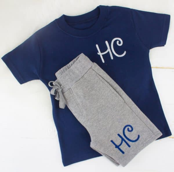 ed99ca54a Personalised Navy & Grey Baby Loungewear Set | Heavensent Baby Gifts