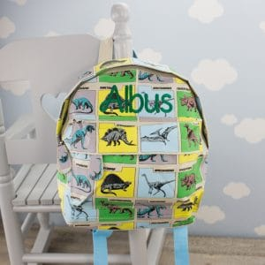 'Personalised Dinosaur Backpack'
