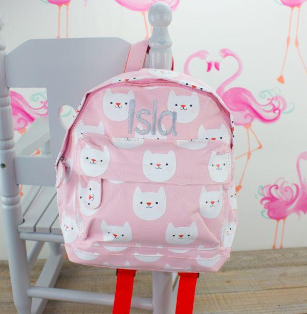 personalised baby girl nursery backpack
