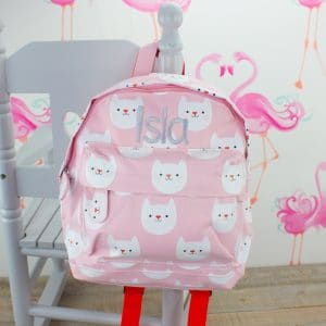 personalised baby girl nursery backpack