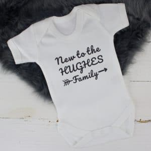 Personalised Unisex 'New to the Family' Bodysuit