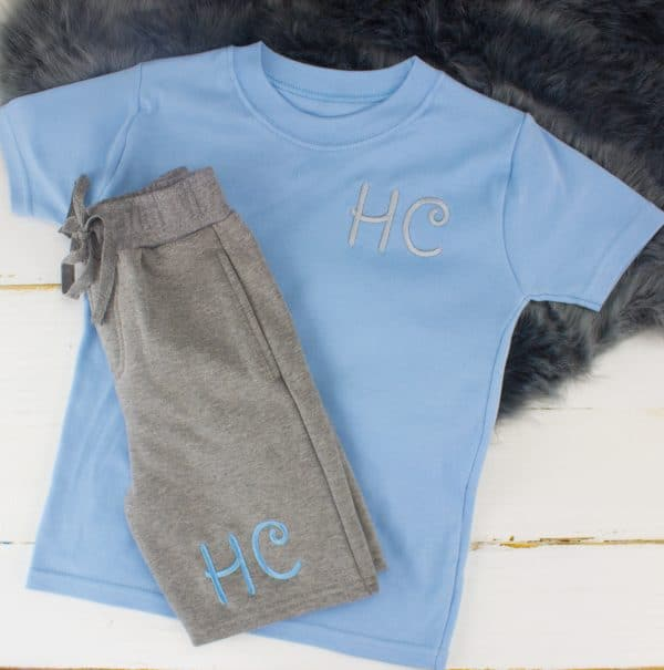 Personalised baby boy summer clothes