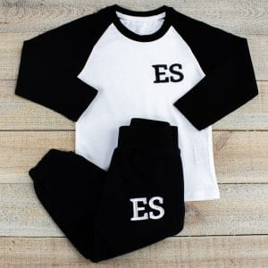 Personalised Black & White Baby Loungewear