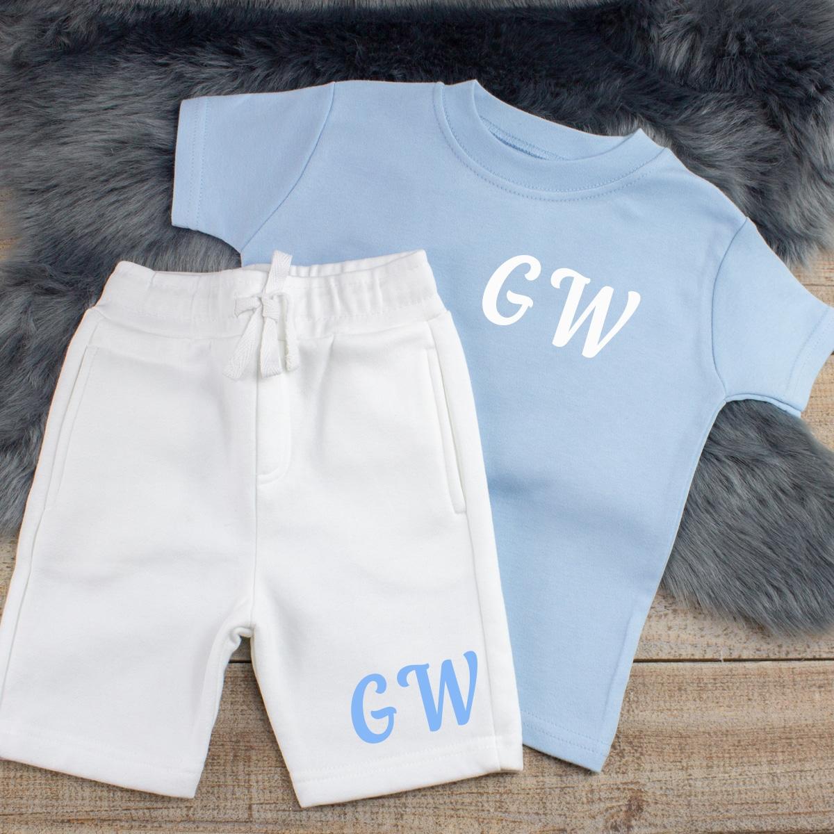 Personalised Baby Boy Summer Loungewear Set