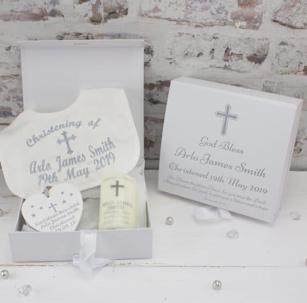 Personalised Premium Christening Gift Set