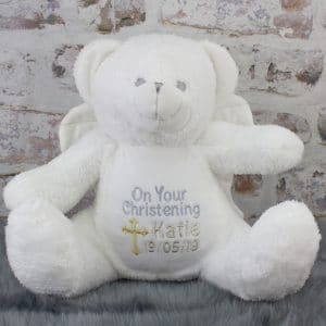 'Personalised Christening Teddy Bear'