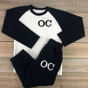 personalised baby loungewear set