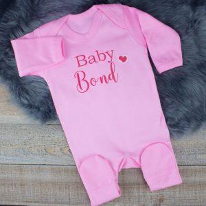 Personalised Pink 'Baby' Shower Sleepsuit