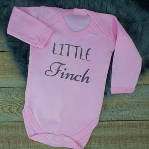 Personalised Pink Baby Shower Bodysuit