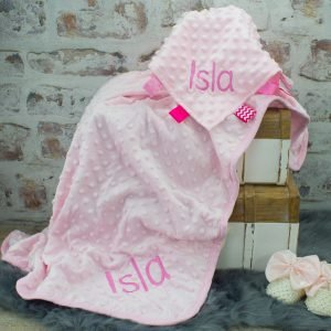 'Personalised Pink Blanket & Taggie Comforter Set'