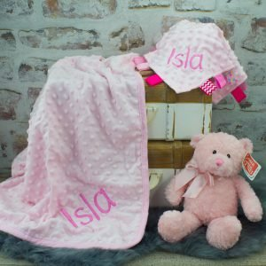 'Personalised Luxury Pink Baby Gift Set'