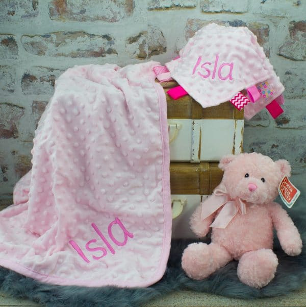 Personalised Pink Baby Girl Gift Set