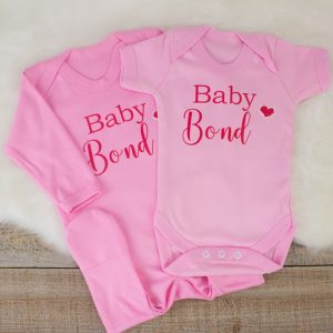 Personalised Pink 'Baby' Shower Clothes Gift Set