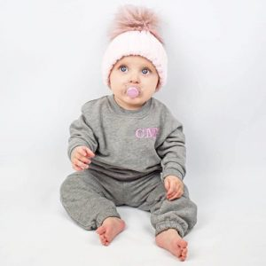 Personalised Grey Baby Tracksuit