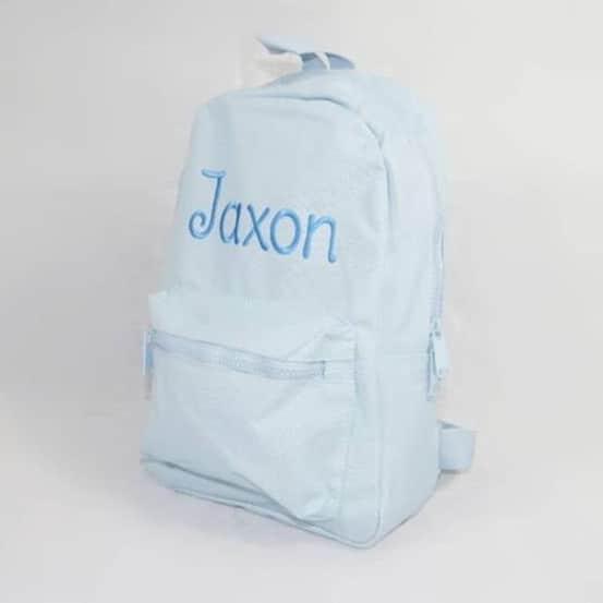 Personalised Blue Baby Backpack