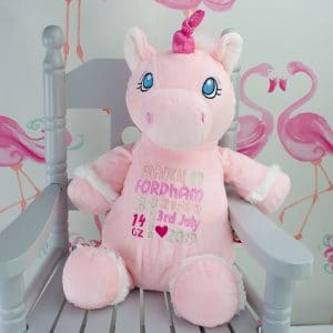 Personalised Unicorn Baby gift