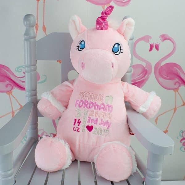 Personalised Unicorn Baby gift