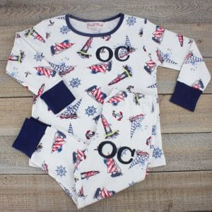 Personalised Baby Boy PJ's - nautical