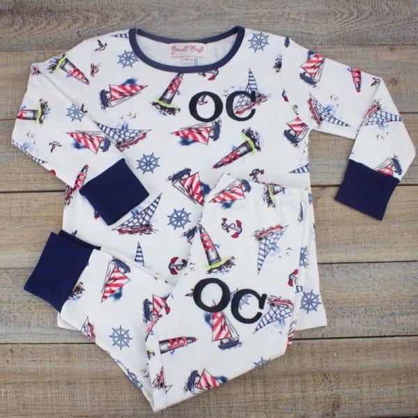Personalised Baby Boy PJ's - nautical