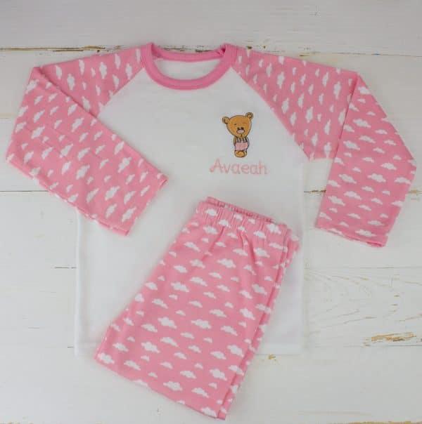 Personalised Baby Girl Pyjamas
