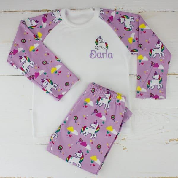 Personalised Unicorn Pyjamas
