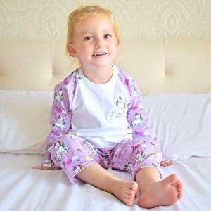 Personalised Baby Girl Unicorn Pyjamas
