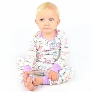 personalised baby unicorn pyjamas
