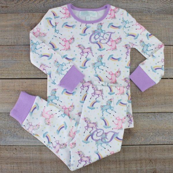 Personalised Baby Girl Pyjamas - Unicorn baby gift