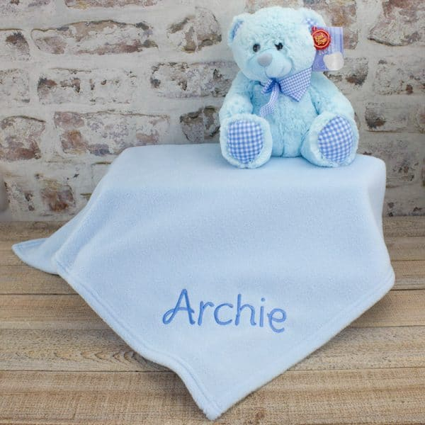 Personalised Baby Boy Newborn gift set