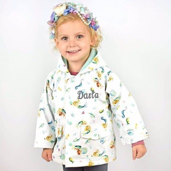 Personalised Baby Girl Raincoat