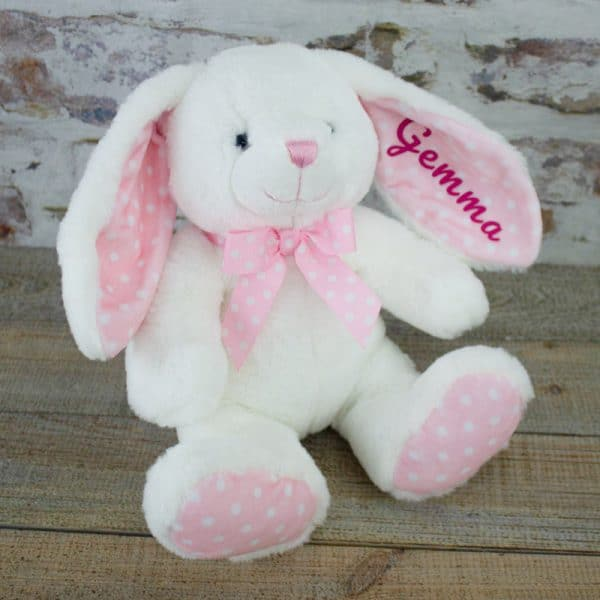 Personalised Pink Baby Bunny Rabbit