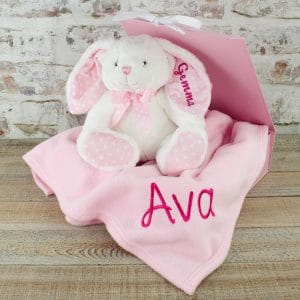 Personalised Baby Girl Bunny Rabbit Gift Set
