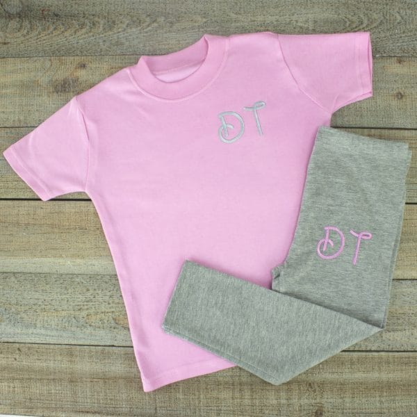 Personalised Pink Baby Girl Loungesuit