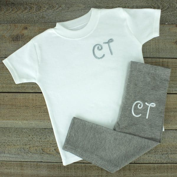 Personalised Grey Baby Loungewear Set