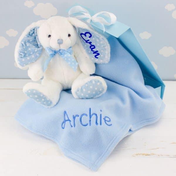 Personalised Baby Boy Gift Set