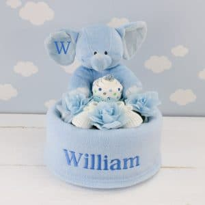 Personalised Baby Boy Nappy Cake