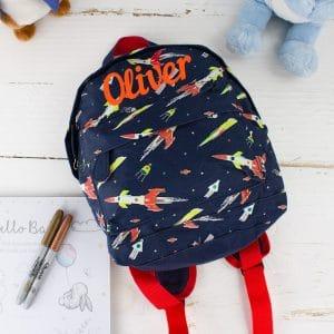 Personalised 'Space Life' Print Backpack